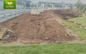 Подготовка под укладку руонного газона
