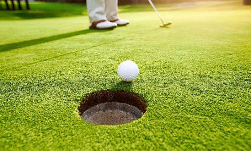 Устройство газона на поле для гольфа