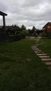 Укладка газона, монтаж автополива